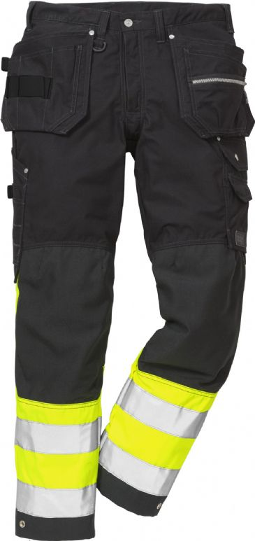 Fristads High Vis Craftsman Trousers CL 1 2093 NYC (Hi-Vis Yellow/Black)